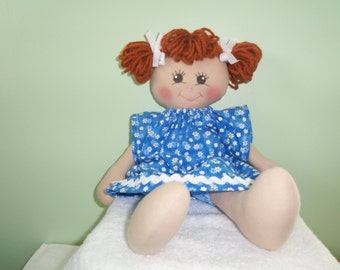 GIRL DOLL with dress and bloomers sweet cloth doll