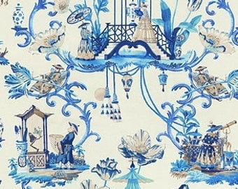 Chinoiserie Dream China Blue Pillow Cover