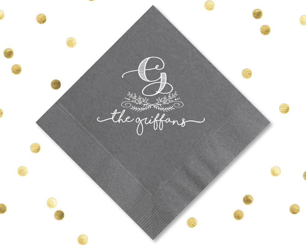 custom wedding napkins wedding napkins wedding by siphiphooray