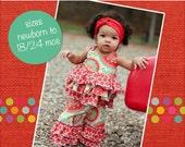 Baby Kara's Triple Ruffle Pants PDF Pattern Sizes Newborn to 18/24m