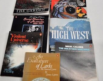8 Non-Fiction/Fiction Penguin Books, 1970-1980's, Paperback