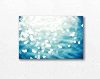 nautical decor abstract canvas art ocean photography abstract 12x18 fine art photography canvas print modern home decor canvas wall art teal