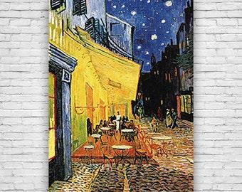 Sidewalk Cafe, by Dutch Artist Vincent Van Gogh, Art Print Poster