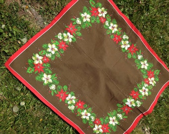 Vintage Christmas Table Square