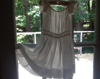 CHILDS Antique dress/ pinafore