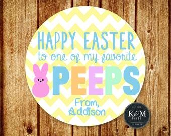 Easter Treat Tag / Happy Easter to One of My Favorite Peeps / Easter Peeps / Digital Printable File