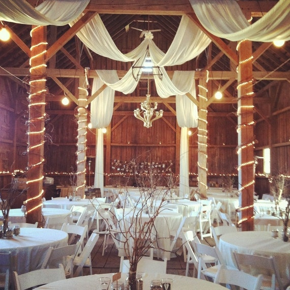 600 Feet 54 Inch Wide White Tulle Bolts Barn By