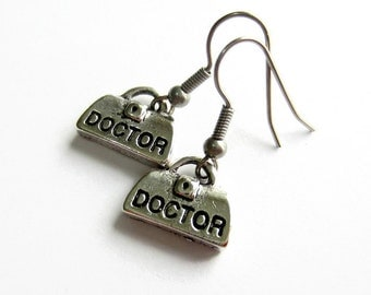 Doctors Bag Earrings, Gift for Doctor, Medical Student, Graduation Gift, Hypoallergenic, Surgical Steel, Gift for Her