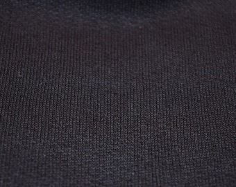 Poly Cotton Sweatshirt Fleece Fabric by the Yard (Navy) 236