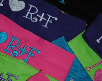 I heart R+F Headband, consultant gifts, embroidered, Rodan+Fields, RF cotton stretch headbands, client gifts