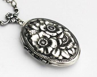 Romantic Necklace, Rose Locket, Enchanted Rose, Rose Necklace, Vintage Rose Necklace, Gift For Her