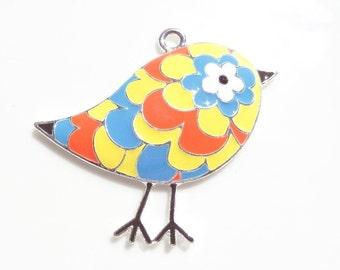 46mm Enamel Bird Pendant