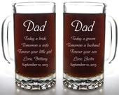Dad Today a Groom Beer Mug Set for Father of Bride and Father of Groom