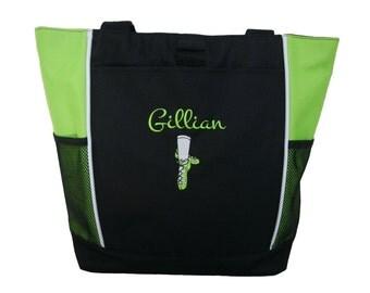 Irish Ghillie Girl Dance Shoes Dancer Celtic Folk Irish Step Tote Personalized Bag