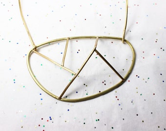 Three Dimensional Mountain Statement Necklace