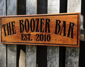 Rustic wooden Man cave bar sign - Personalized - Pub sign - Business signage - Christmas Gift for him Best Man gift