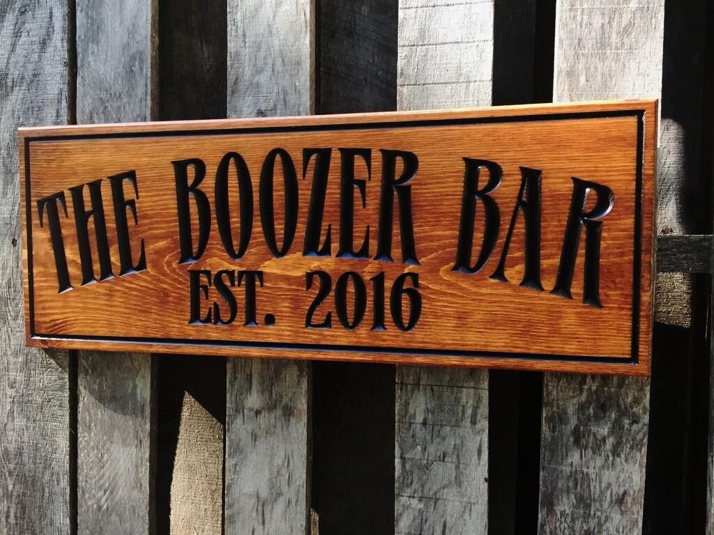 Man Cave Pub Signs : Rustic wooden man cave bar sign personalized pub