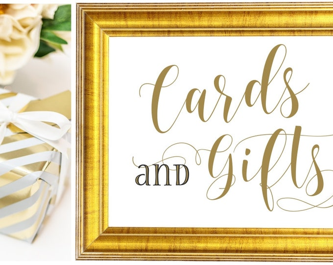 Wedding Signs | Cards and Gifts Sign |  DIY PRINTABLE | Instant Download
