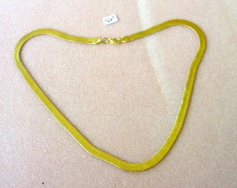 Vintage Gold Tone  Flat Chain Necklace - 18 1/2 Inches - No. 1667