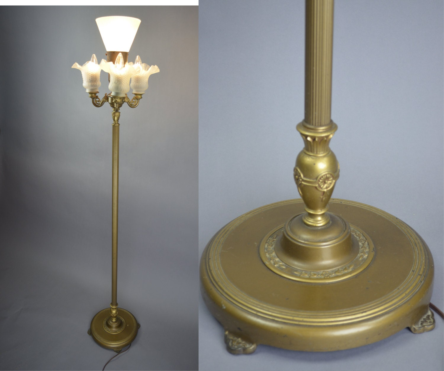 Vintage 1920 39 s rembrandt art deco 4 light mogul floor lamp for 1920 floor lamp