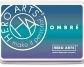 Hero Arts Ombre Mermaid Ink Pad AF365; Stamping, Paper Crafting;  Scrapbook Blue Ink