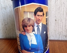 Vintage 1980's Royal Wedding tin - Charles and Diana * KITSCH * biscuit tin. Prince of Wales, British, Royal Family memorabilia