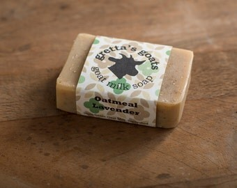 Organic Oatmeal Lavender Goat Milk Soap from Hand Milked Goats that Graze on Organically Managed Pasture