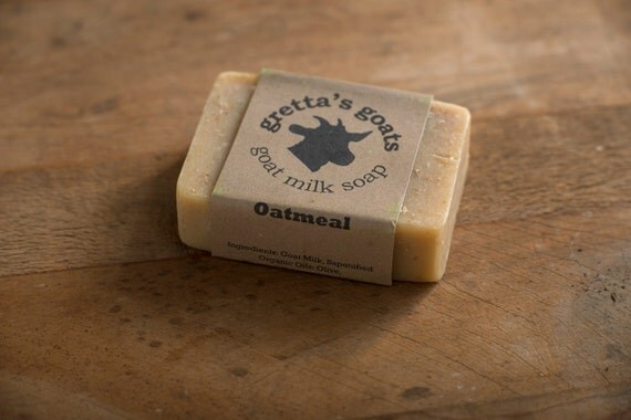 Organic Oatmeal Goat Milk Soap from Hand Milked Goats that Graze on Organically Managed Pasture