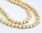 Natural wood beads round 8mm full strand eco-friendly Cheesewood 9440NB