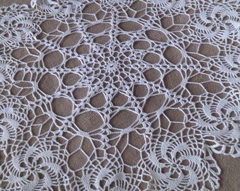 Large Spider Web Scollop Edge Crocheted Doilies