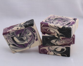 SALE! Blackened Amethyst Luxurious Scented Soap, Handmade Cold Process Artisan Soap, Best Seller, Bar Soap