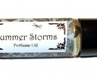 SUMMER STORMS - Roll on Premium Perfume Oil - 2 sizes to choose from - 1/3 oz or 1/6 oz -