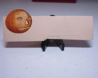 1920's unused die cut C.S.C. Co. Germany halloween place card with a jack o'lantern