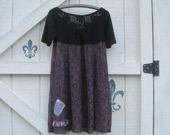 Lace dress, lace overlay dress, slip dress purple, bohemian dress, lace gypsy dress