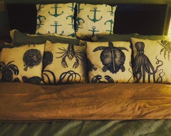 Beachy Decorative Coastal Pillows