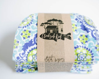 Baby Cloth Wipes - Reusable Baby Cloth Diaper Wipes - Set of 20 Wipes -