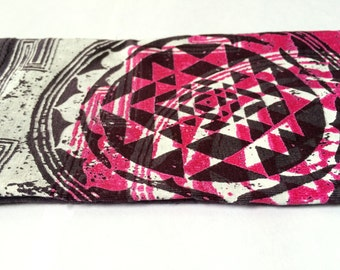 Washable Eye pillow Cover - Sacred Geometry print - Organic Cotton and Bamboo