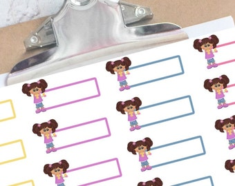 Little Girl reminder stickers for your planner