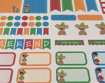 Cinco de Mayo planner stickers