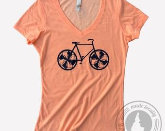 Idaho Bike Tee- Ladies -BANANA ink
