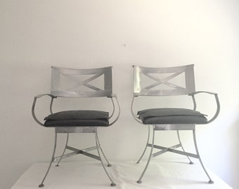 Hold for T // Pair of Henry Link Director Chairs