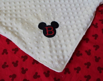 Mickey Mouse Personalized Minky Blanket