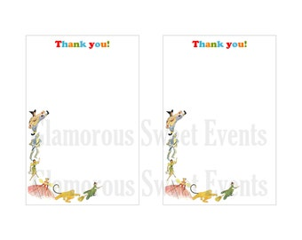 INSTANT DOWNLOAD 4X6 Vintage Wizard Of Oz Thank You Cards, Printable