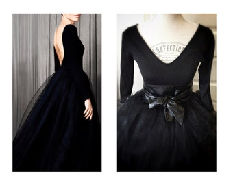 Tulle Satin  Women party Dress two pieces Made to order tutu skirt and  top FREE SHIPPING