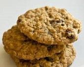 Oatmeal Raisin Cookies, handmade cookies, fresh cookies, holiday cookies, holiday dessert, dessert