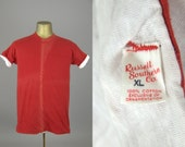 50s Russell Southern Reversible Red / White Cotton Athletic T Shirt
