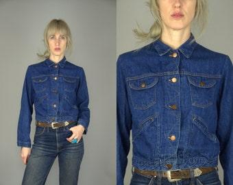 60s Selvedge Dark Blue Denim Ranch Hand Four Pocket Jean Jacket