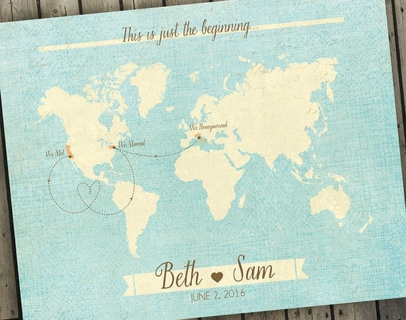 Antique world map wedding guest book alternative map custom gumiabroncs Image collections