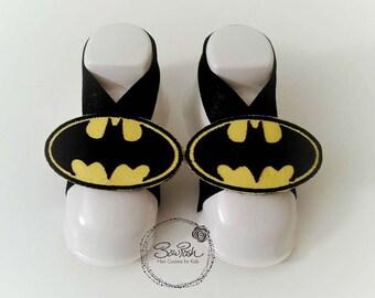 CLEARANCE Batman barefoot sandals, barefoot Batman sandals, baby boy photo prop, boy barefoot sandals, barefoot boy sandals