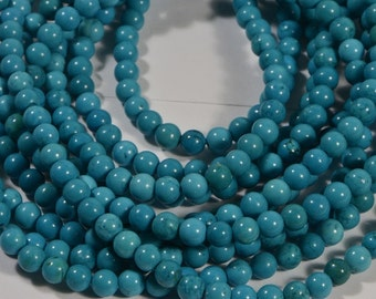 Turquoise Half Strand Beads 4.5mm Natural Gemstone Beads Jewelry Making Supplies